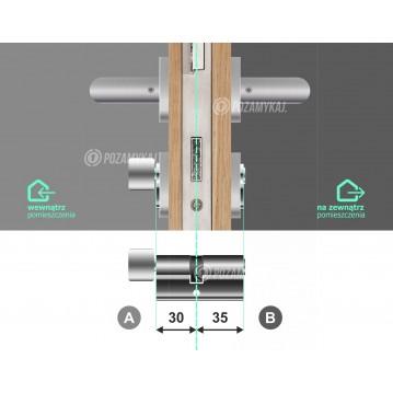 Wkładka bębenkowa 30/30 LOB ARES + 13 kluczy