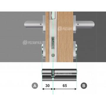 Wkładka bębenkowa 40/60 LOB ARES + 100 kluczy