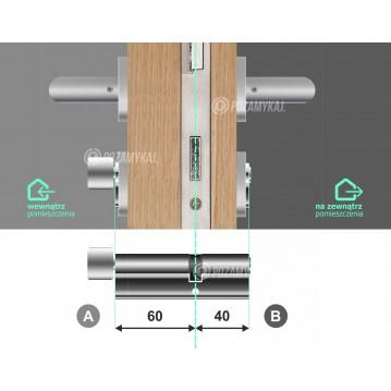 Wkładka bębenkowa 35/40 LOB ARES + 3 klucze