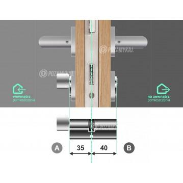 Wkładka bębenkowa 45/60 LOB ARES + 100 kluczy