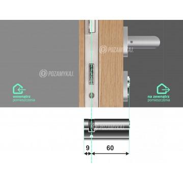 Wkładka bębenkowa 30/30 LOB ARES + 60 kluczy