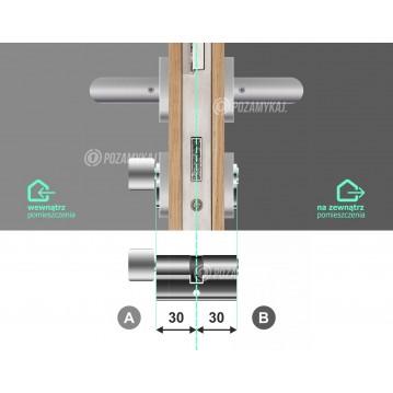 Wkładka bębenkowa 30/30 LOB ARES + 16 kluczy