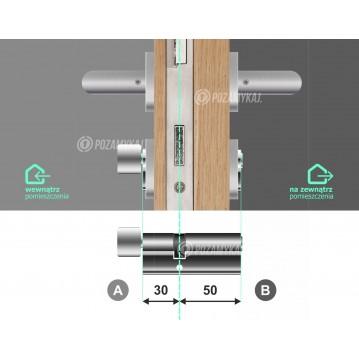 Wkładka bębenkowa 45/65 LOB ARES + 100 kluczy