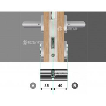 Wkładka bębenkowa 45/55 LOB ARES + 100 kluczy