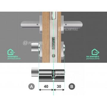 Wkładka bębenkowa 30/30 LOB ARES + 17 kluczy