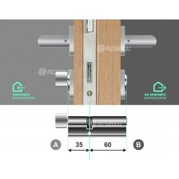 Zamek elektroniczny na szyfr i kartę zbliżeniową Apartlock P1 zamek do apartamentów - zdalne generowanie kodów