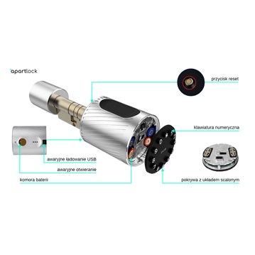 Wkładka bębenkowa z gałką LOB HEKTOR 45G/45 system jednego klucza